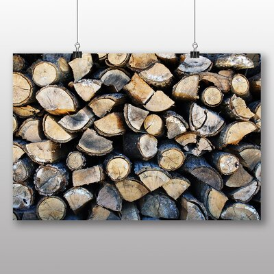 Big Box Art Firewood Logs Photographic Print on Canvas
