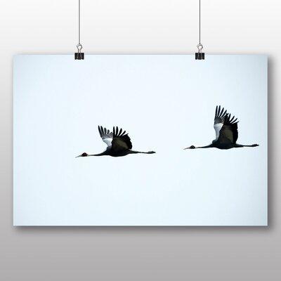Big Box Art Flying Cranes Photographic Print on Canvas