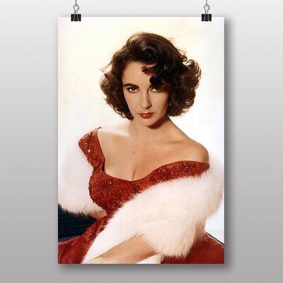 Big Box Art Elizabeth Taylor No.2 Photographic Print Wrapped on Canvas