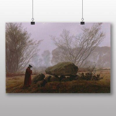 Big Box Art 'A Walk at Dusk' by Caspar David Friedrich Art Print