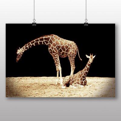 Big Box Art Giraffe No.4 Photographic Print Wrapped on Canvas