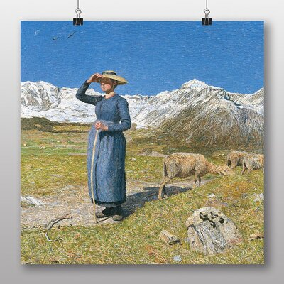 Big Box Art High Noon in the Alps No.2' by Giovanni Segantini Art Print