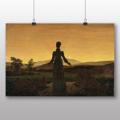 Big Box Art 'Woman Before the Rising Sun' by Caspar David Friedrich Art Print