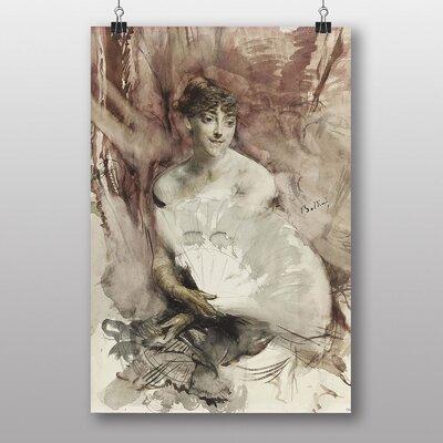 "Big Box Art ""Woman with a Fan"" by Giovanni Boldini Art Print"