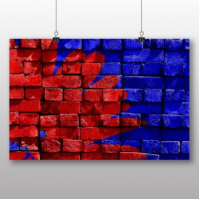 Big Box Art Floral Brick Art Photographic Print on Canvas