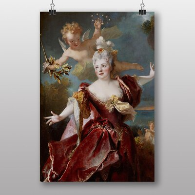 "Big Box Art ""Cupid with Lady"" by Franz Kadlik Art Print"