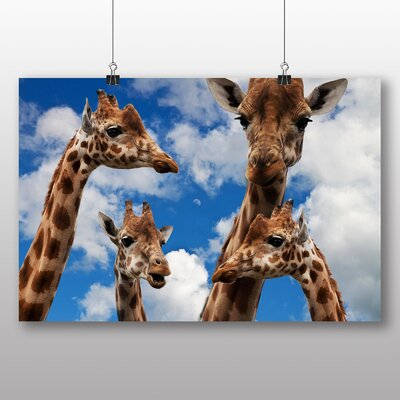 Big Box Art Giraffes No.4 Photographic Print Wrapped on Canvas
