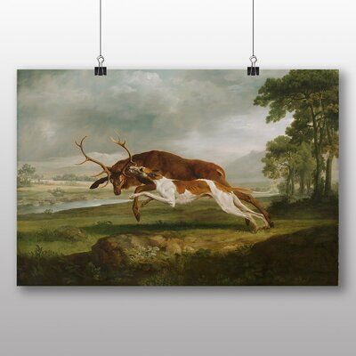Big Box Art 'English Hound with a Stag' by George Stubbs Art Print