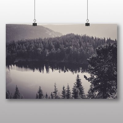 Big Box Art Forest and Lake Photographic Print Wrapped on Canvas