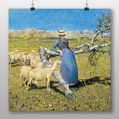 Big Box Art 'High Noon in the Alps' by Giovanni Segantini Art Print
