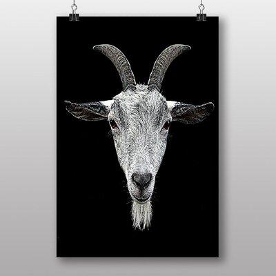 Big Box Art Goat Horns Graphic Art