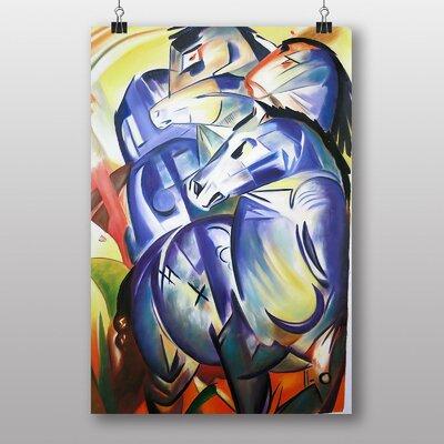 "Big Box Art ""Four Blue Horses"" by Franz Marc Art Print"