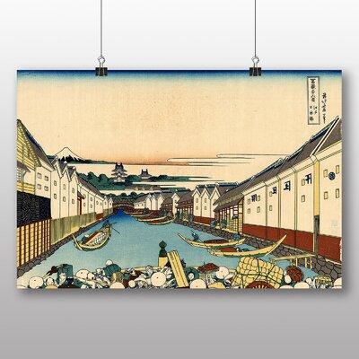 "Big Box Art ""Japanese Oriental Nihonbashi"" by Hokusai Art Print"