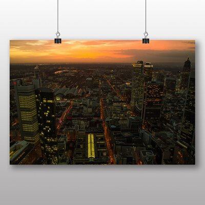 Big Box Art Frankfurt Skyline Germany No.2 Photographic Print on Canvas