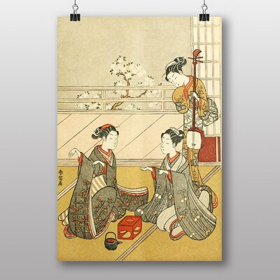 Big Box Art Girls Playing the game of Ken Japanese Oriental Art Print