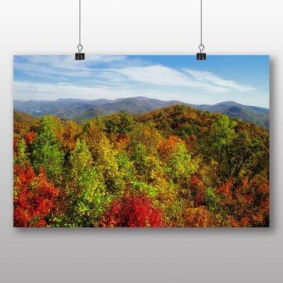 Big Box Art Georgia Forest Wood Autumn USA Photographic Print Wrapped on Canvas