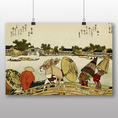 "Big Box Art ""The Makura Bridge Japanese Oriental"" Art by Hokusai Art Print"