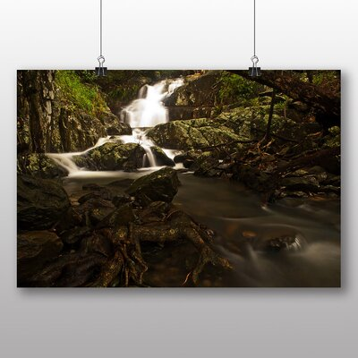 Big Box Art Forest Wood Stream No.5 Photographic Print Wrapped on Canvas