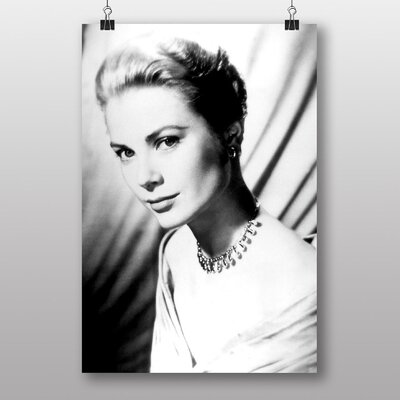 Big Box Art Grace Kelly No.1 Photographic Print Wrapped on Canvas