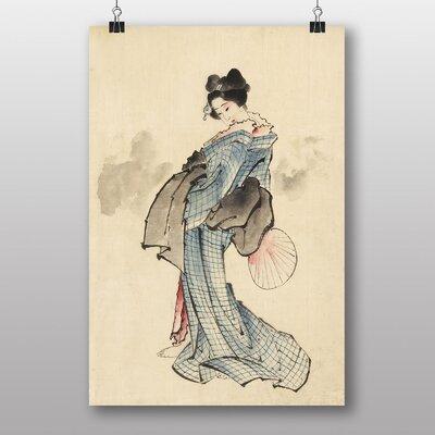 Big Box Art Woman Full Length Japanese Oriental by Hokusai Art Print