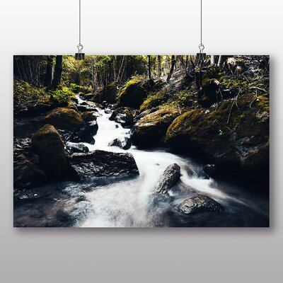 Big Box Art Forest Wood Stream No.4 Photographic Print Wrapped on Canvas