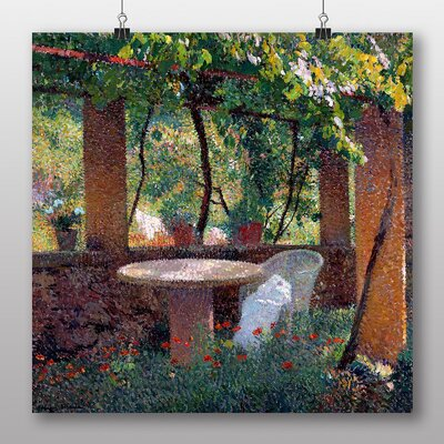 "Big Box Art ""Garden No.2"" by Henri Martin Art Print on Canvas"