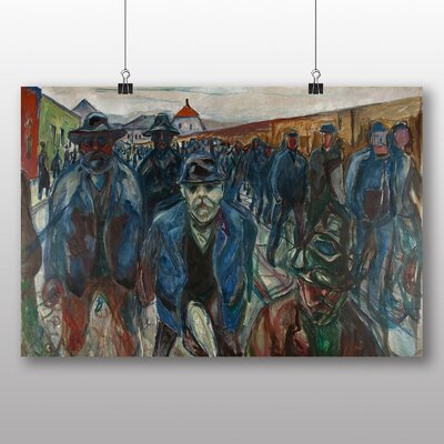 Big Box Art 'Workers on Their Way Home' by Edvard Munch Art Print