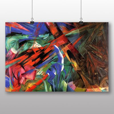 Big Box Art 'Deer in the Forest' by Franz Marc Art Print