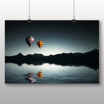 Big Box Art Hot Air Balloon No.2 Photographic Print Wrapped on Canvas