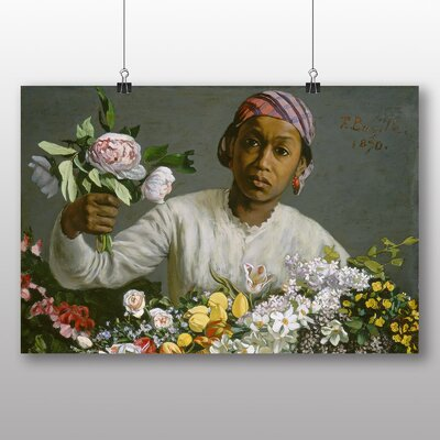 Big Box Art 'Woman with Peonies' by Frederic Bazille Art Print