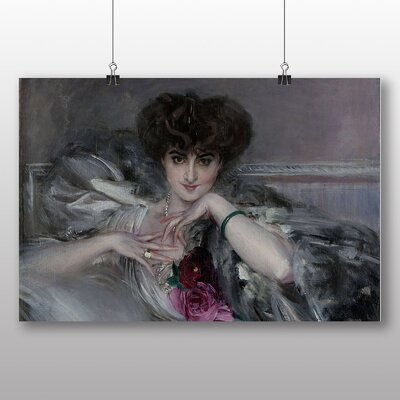Big Box Art 'Portrait of Woman with Roses' by Giovanni Boldini Art Print