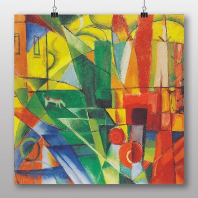 Big Box Art 'Landscape with House, Dog and Cow' by Franz Marc Art Print