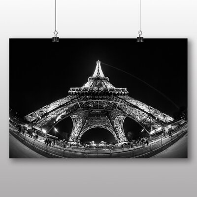 Big Box Art Eiffel Tower Paris France Photographic Print on Canvas