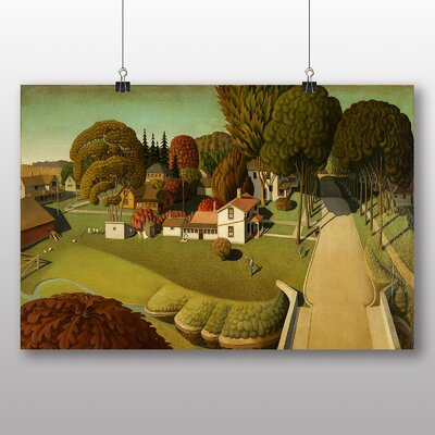 """Big Box Art """"Birthplace of Herbert Hoover"""" by Grant Wood Art Print Wrapped on Canvas"""