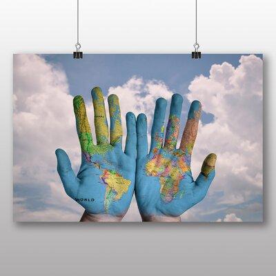Big Box Art Globe Hands Photographic Print