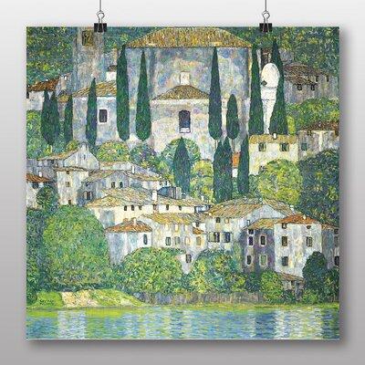 Big Box Art 'Church in Cassone' by Gustav Klimt Art Print