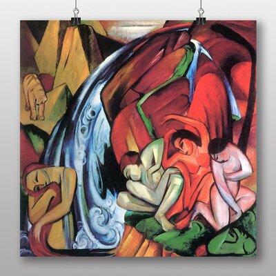 Big Box Art 'The Waterfall' by Franz Marc Art Print