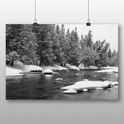 Big Box Art 'Frozen Forest and Lake' Photographic Print