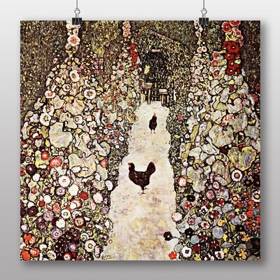 Big Box Art Garden with Chickens and Roosters' by Gustav Klimt Art Print