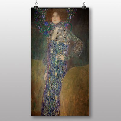 Big Box Art Portrait of Emily Floge' by Gustav Klimt Art Print