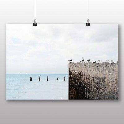 Big Box Art Gulls in a Row Graphic Art on Canvas
