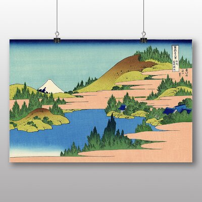"Big Box Art ""Japanese Oriental Lake of Hakone"" by Hokusai Art Print"