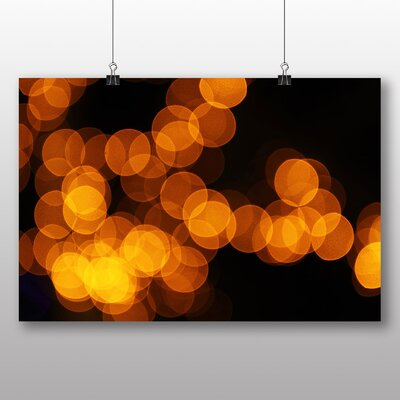 Big Box Art Golden Blurred Fairy Lights Abstract No.2 Graphic Art on Canvas