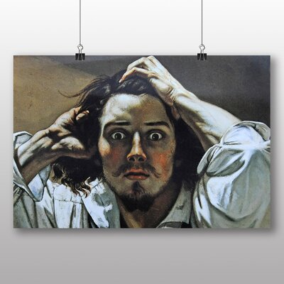 Big Box Art 'The Desperate' by Gustave Courbet Art Print