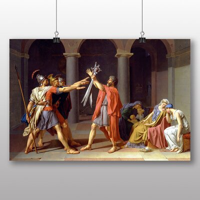 Big Box Art 'Oath of the Horatii' by Jacques Louis David Art Print