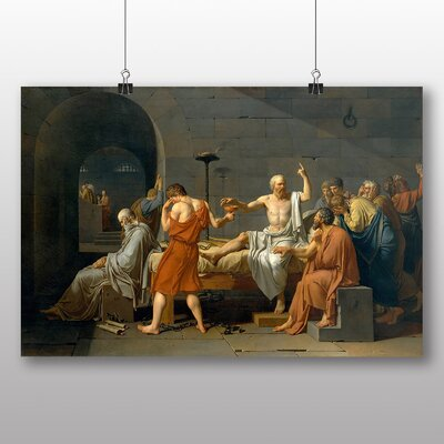 Big Box Art 'The Death of Socrates' by Jacques Louis David Art Print