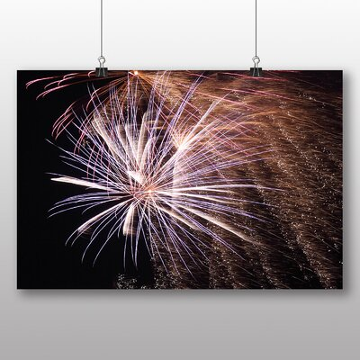 Big Box Art Fireworks at Night No.3 Graphic Art Wrapped on Canvas
