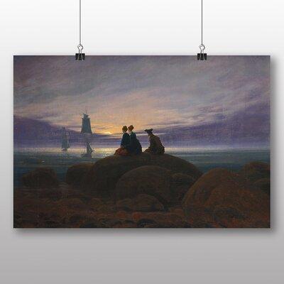 Big Box Art 'Moonrise over the Sea' by Caspar David Friedrich Art Print