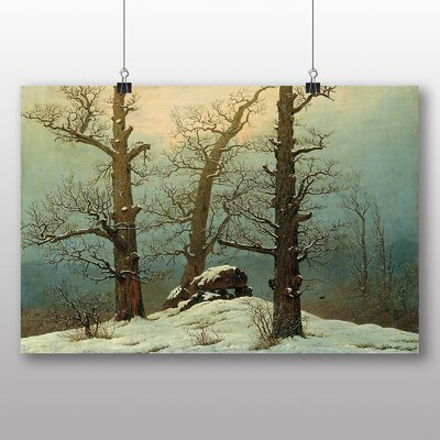 Big Box Art 'Winter Scene' by Caspar David Friedrich Art Print