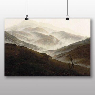 Big Box Art 'Mountain Landscape with Mist' by Caspar David Friedrich Art Print
